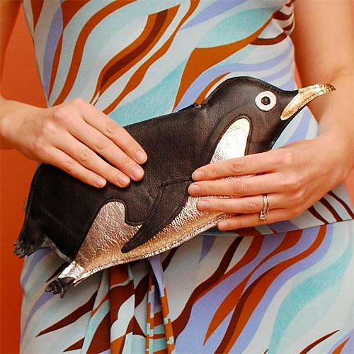 Pingviini-kirjekuorilaukku