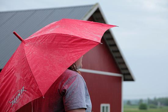 Sateenvarjon alla