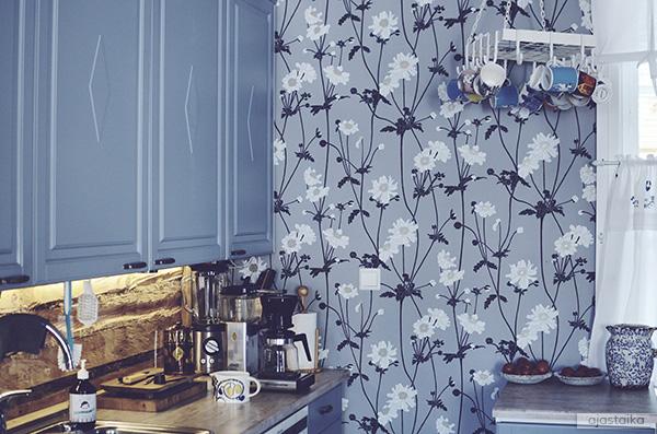 Sinisävyinen keittiö