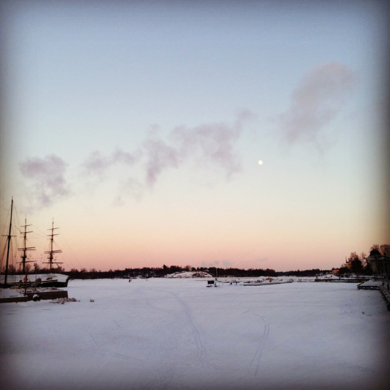 #helsinki #winter #snow #ice #sunset