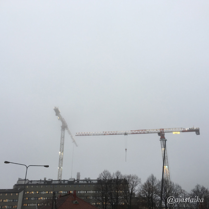 Olipa sumuinen päivä. #november #fog #weather #sky #kupittaa #turku #nofilter #latergram