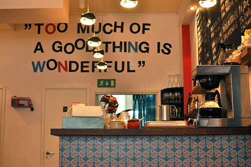 Too much of a good thing is wonderful