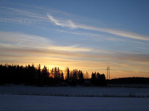 Talvinen auringonlasku