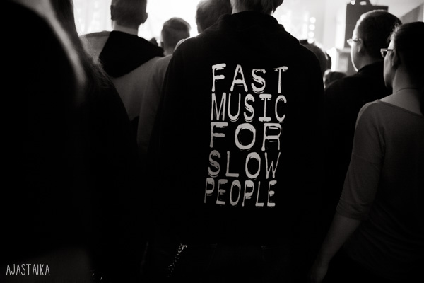 Fast music for slow people