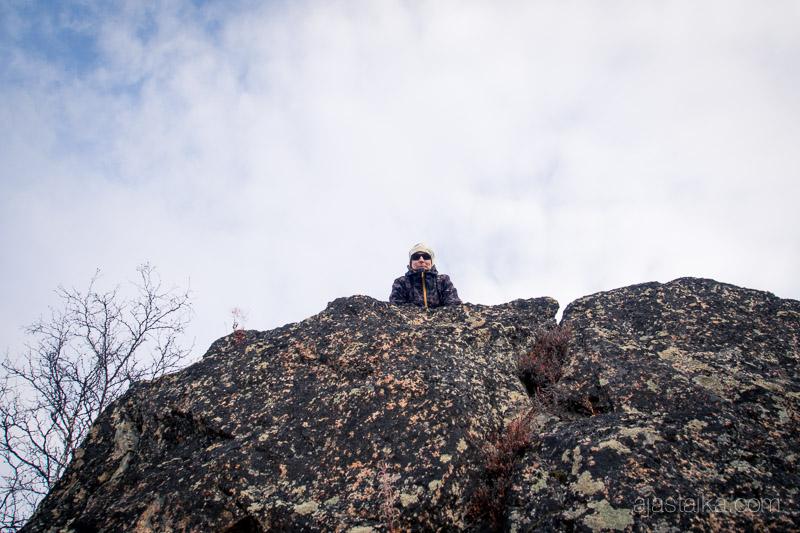 Iso kivi Kilpisjärvellä