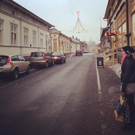 Talvinen #rauma mutta missä lumi?! #winter #nosnow #light #street
