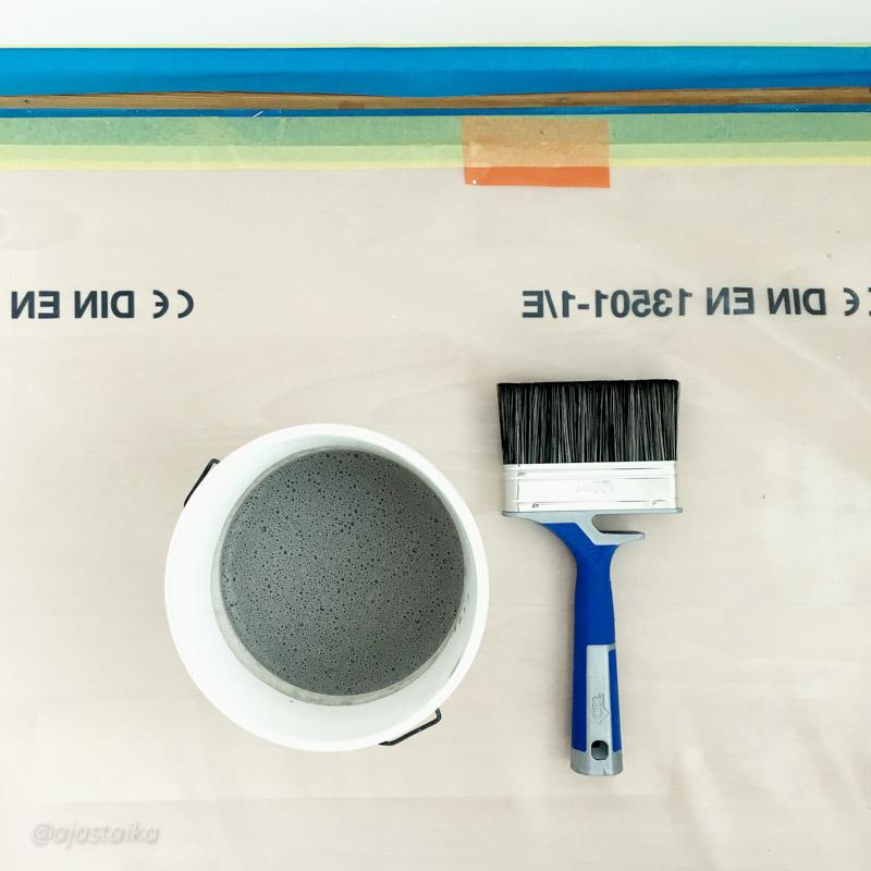 Jaahas, katotaan mitä tästä tulee. #painting #chalkpaint #kalklitir