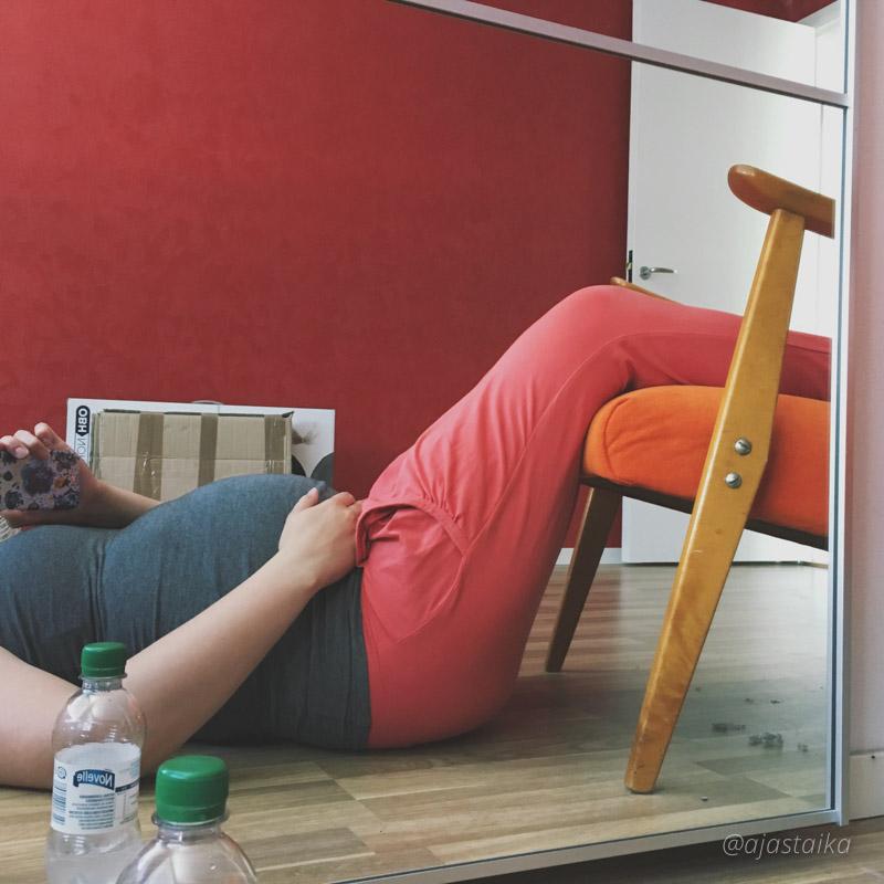 Kroppa alkaa vähän sanoa tööt tööt... Jalat kipeet ja ihan turvoksissa. Kunhan tästä selvitään niin ei uutta muuttoa ihan heti, kiitos. #moving #tired #pregnant #pregnancy #rv34 #syyskuiset2017 #pakkonostaajalatylös #auts